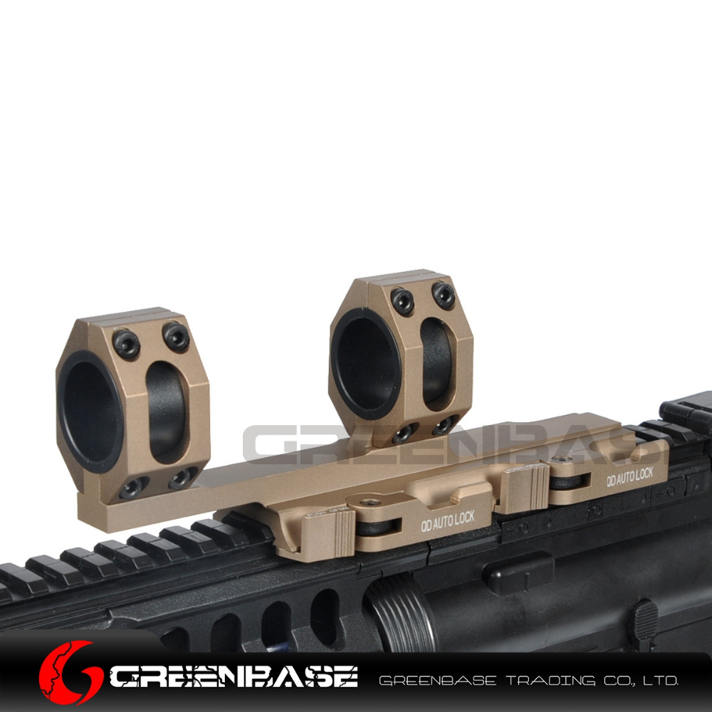 Greenbase AR15 Tactical Rifle Scope Mount Quick Release Cantilever Scope Mount Extended 25.4mm 30mm Scope Ring Auto Lock<br>