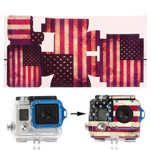 OOTDTY Cool Camera Accessories American Flag Paster Adhesive Bag Skin Sticker Mount(China)