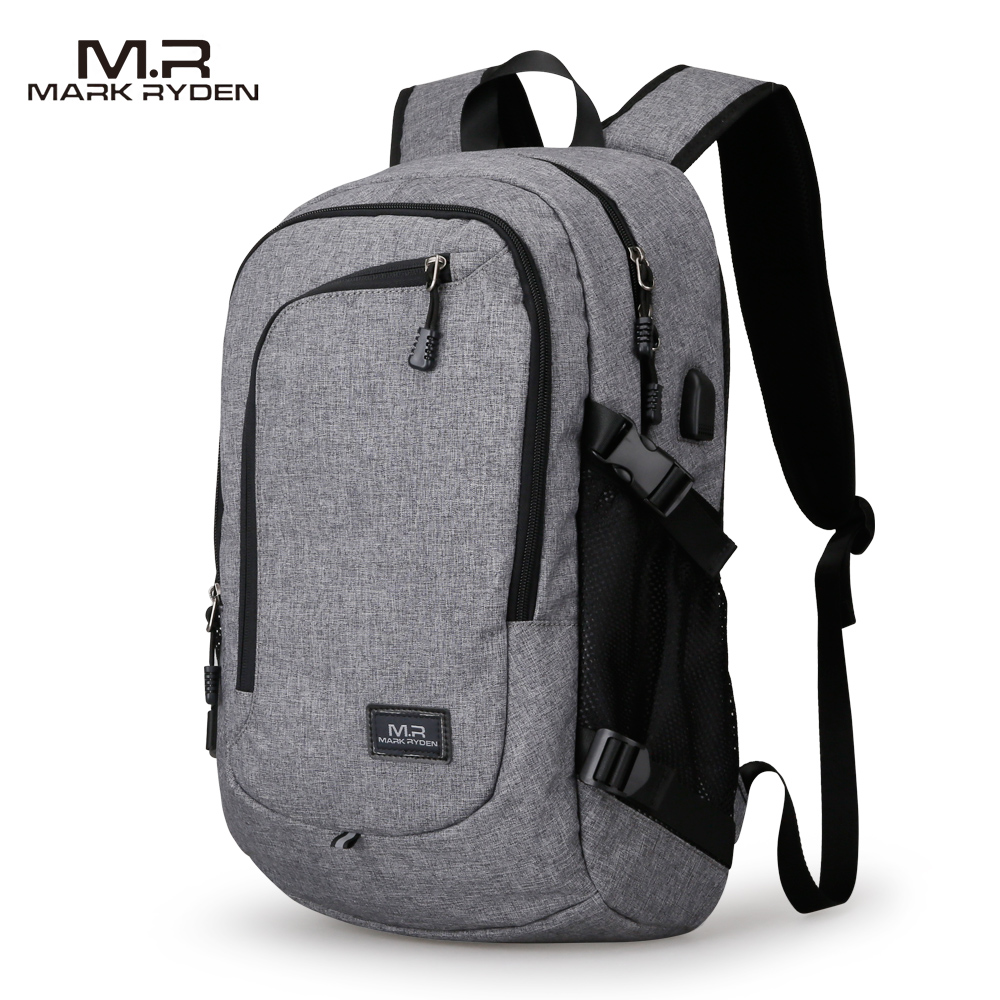 MR Computer Laptop Backpack for 15-16 inches USB Charging Mens Large Capacity Travel Bag  for Teenagers Waterproof Backpack<br><br>Aliexpress