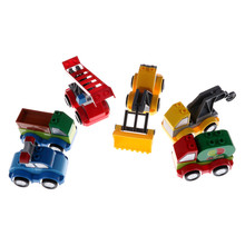 Plastic Mini Ladder Truck Crane Shovel Tanker Freight Car City Large Building Blocks Baby Toys Simulation Vehicle Toys for Kids(China)