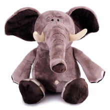 "1pcs 10"" 25cm Genuine Nici Plush Toy Plush Elephant Popular Toy For Kids Stuffed Animal Soft Doll Anime brinquedos Free Shipping(China)"