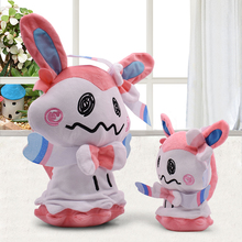 Funny Cartoon Q Sylveon Plush Toy 2 Size 20 30cm PP Cotton Soft Stuffed Animal