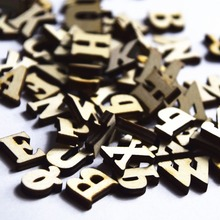 100 pcs 14mm Natural color Mix 26 letters alphabet wooden sewing buttons Wood letters Fit Products craft accessories DiY XP0107