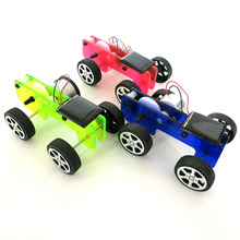 DIY Solar Power Car Physics Experiment Science and Technology Model Car Toy Assemble Kit Best Birthday Gift For Children Boys(China)
