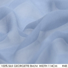 SILK GEORGETTE 114cm width 8momme/100% Pure Silk Georgette Fabric Manufacturer Direct Sale Free Shipping Grey Blue NO 48