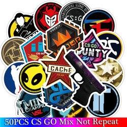 50 шт. в упаковке CS GO набор игровых наклеек для мальчиков багаж скейтборд ноутбуков, mac Teem водонепроницаемые наклейки