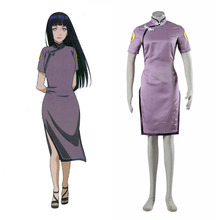 Naruto Hyuga Hinata Cosplay Costume New Design Naruto Costume Cheongsam Dress Chinese Clothing Halloween Costumes for Women