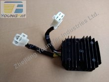 Scooter Moped ATV GY6 125 150 cc 152QMI 15QMJ Voltage Regulator Rectifier , 3 phrase, 2 plug , 7 wire, DC, for 11  pole stator