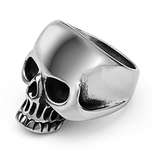 Mimeng Titanium Skull Ring Stainless Steel Rings Western Style Rings Men's Ring(China)