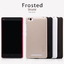 xiaomi mi4c Case xiaomi mi 4c case NILLKIN Super Frosted Shield hard back cover case with free screen protector Retail package(China)