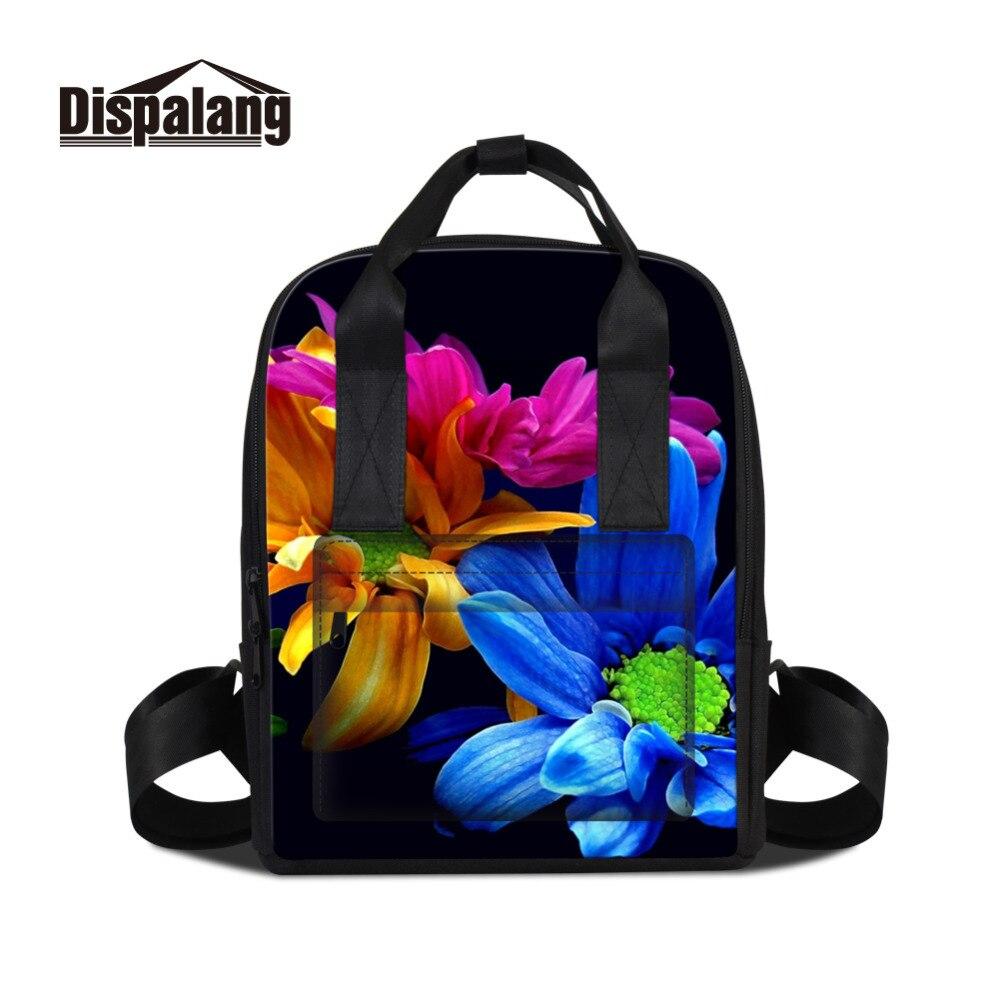 Dispalang Fashion Women Backpack Flower Printing Lady Womens Backpacks Female Casual Traveling Bag Laptop Shoulder Bag Mochila<br>