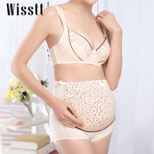 Cotton Maternity bra+panties set prevent sagging nurse bra for pregnant women Breastfeeding Nursing underwear Bra B/C/D/E Cup