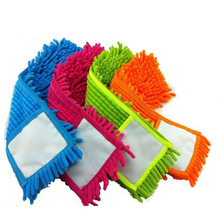 4 pcs Replacement pad for flat mop,mops floor cleaning pad,chenille flat mop head replacement refill,head to floor mops