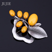 JUJIE Brooches For Women 2016 Vintge Large Brooches Brand Fashion Brooches For Wedding Bouquets Flower Brooch Luxury Jewelry