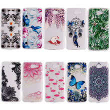 Epoxy Resin Varnishing Phone Case For Huawei Y5 II Clear Soft TPU Cover For Huawei Y6 II Transparent Mobile Phone Shell