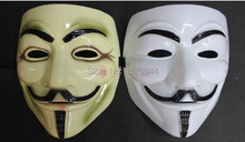 5PCS/LOT Party Masks 5pcs/lot for Vendetta Anonymous Guy Fawkes Mask Halloween Cosplay P0018(China)
