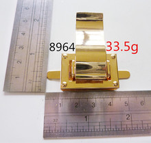 Real gold color fashion metal lock for DIY wallets,bag fitting and accessories for wholesale price