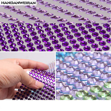 900PCS/set 4mm Crystal diamond Car Decor Decal car Styling Accessories Mobile/PC Art Diamond Self Adhesive car Stickers