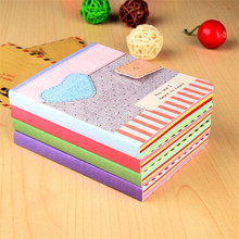 1 piece latest love fabric pattern cheap notebook Cloth drawing pattern cover Notepad Notebook Learning supplies school statione(China)