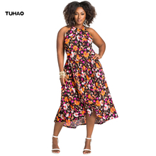 Buy TUHAO Summer 2018 Plus size 3XL 4XL Print Floral Loose Boho Bohemian Beach Dress Women Sexy Strap Retro Vintage Dress NA09 for $16.90 in AliExpress store