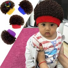Newborn 2016 New Unisex Baby Boy Girl Kids Toddler Infant Cool Wig Hats Soft Cap Beanie(China)
