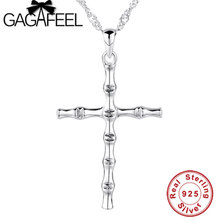 100% Real Pure 925 Sterling Silver Cross pendant Fit 925 Necklace Men jewelry TOP quality Fine Jewelry free shipping CCMA116(China)