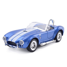 New KiNSMART 1/32 Scale Ford 1965 Shelby Cobra 427 S/C Vintage Diecast Metal Classic Car Model Toy Pull Back For Kids Gifts Toy
