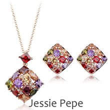 Jessie Pepe Italina Luxurious Queen Jewelry Set Joias With Austrian Crystal Zirconia Top Quality Welcome Wholesale #JP025S