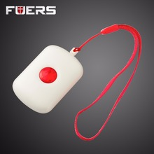 Wireless Necklace Panic Button For Wifi GSM Home Alarm System Security Emergency Call Door Bell(China)