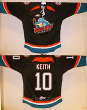 Kelowna Rockets #10 Duncan Keith Black Hockey Jersey Embroidery Stitched Customize any number and name Jerseys(China)