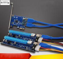 PCI-E PCI Express 1X to 16X Riser Card Extender 60cm USB 3.0 Data Cable SATA 15Pin to 4Pin Power Supply for Bitcoin Miner Mining(China)