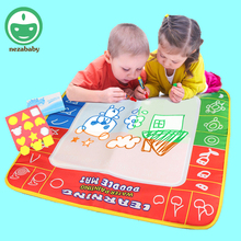 80X60cm Large Children Aqua Doodle Drawing Toys Set Painting Mat Water Drawing Toys Kids Drawing Mat Magic Pen HH02L