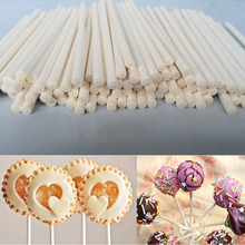 100 or 50pcs Solid Core Paper Lollipop Sticks 100mm*3.5mm Stick Lolly for Fondant Candy Chocolate Cake Pop Cupcakes Making Mould(China)