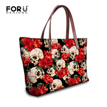 FORUDESIGNS 2017 Women Large Handbag Cool Skull Girls High Quality Messenger Bag Female Casual Tote Bag Ladies Luxury Beach Bags