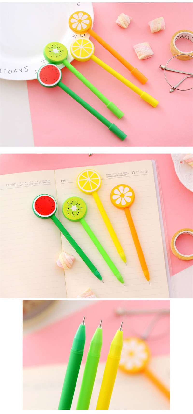 Detail Feedback Questions about Korean Cartoon Cute Fruit Gel Pen ... c49c0442c10a