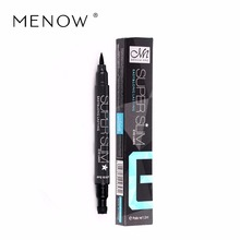 Menow Brand Star Eyeliner Black Long Lasting liquid Eye Liner Pencil liquid Cosmetic Beauty Makeup super slim easy use E15003(China)