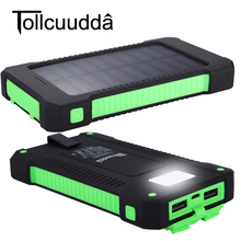Tollcuudda 10000mAh Solar Power Bank Powerbank Waterproof Bateria Panel Battery Charger iphone 6 6s 7 plus Samsung LG - Shenzhen BACKYEE Store store