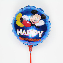 20pcs/lot 8.5 inch Mickey Mouse Balloons With Stick Mickey Foil Balloon Birthday Party Decorations air globos Baby Shower Toys
