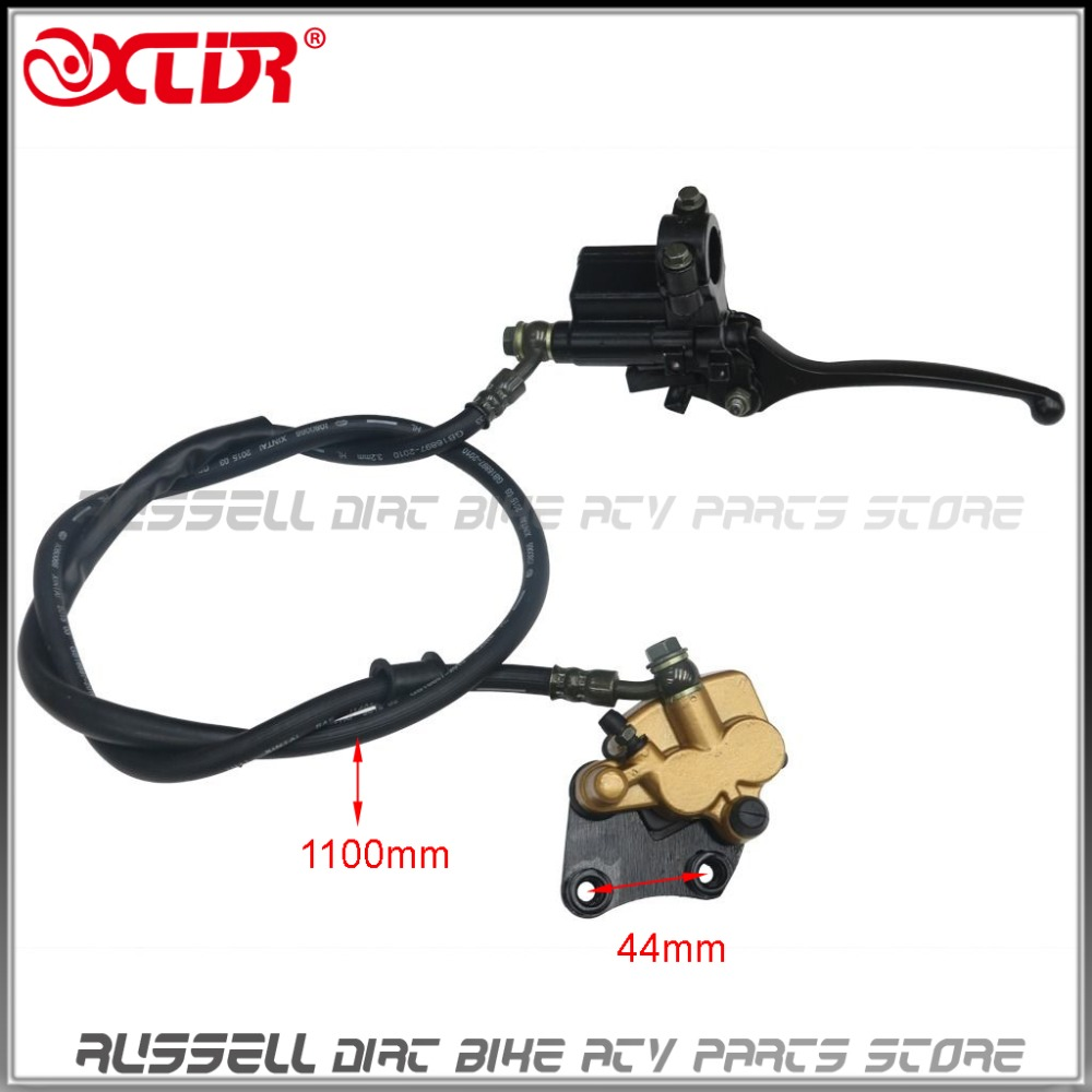 Front Disc Hydraulic Brake Assembly Caliper Master Cylinder and Brake pad For Dirt Pit Pro Bike Coolster 110 125 150 CC<br>