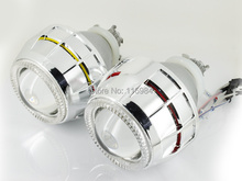 "2pcs x 2.8"" HID Bi-xenon Double Headlight Projector Lens Kit For H1 H3 H7 H11 9005 9006 Bulb CCFL Angel Eye RHD"