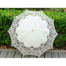 Lace Sunshade Handmade Wedding Umbrellas Retro Lace Umbrella Parasol For Sun For Wedding Photography Decoration(China)