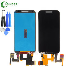 "black white 5.7"" for Motorola Moto X style x3s X3 style XT1570 LCD Display Touch Screen Digitizer Assembly"