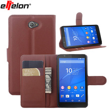 Effelon For Xperia E4 Flip PU Leather Moblie phone cover wallet pouch Case For Sony Xperia E4