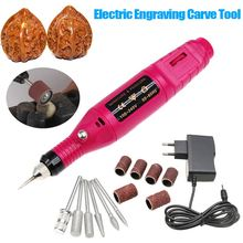 15 Pcs/set DIY Carve Tool Electric Mini Grinder Carving Machine Engraving Engraver Pen for Jewelry Metal Glass EU Plug Hot Sale(China)