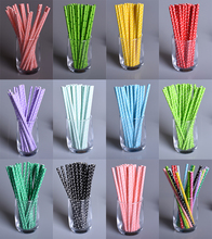 25 PCS Lovely Polka Dot Paper Straws For Kids Birthday Wedding Decoration Party Event Supply Creative Drinking Straws Prom