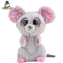 [QuanPaPa] New 15Cm cotton Animals Plush Toy Mouse Doll Regular Stuffed Animals Ty beanie boos Plush Toy For Baby(China)