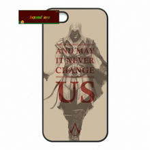 Skull Assassins Creed Cell phone Cover case for iphone 4 4s 5 5s 5c 6 6s plus samsung galaxy S3 S4 mini S5 S6 Note 2 3 4 zw0408(China)