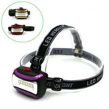 Super Bright 6 LED Mini Headlamp Headlight Flashlight Torch Lamp 3 Models Head Lamp Fishing Camping Light AAA 3 Colors(China)