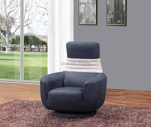 Wholesale Modern  fabric sofa chair with function swivel and folding back cushion single chair  1321