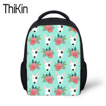 9daaca9ff04e THIKIN Shoulder Bag for Kids Pit Bull Terrier Printing School Bags  Children Baby Mini Kindergarten Backpacks Girls Book Bag